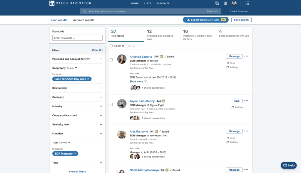 How to Export Leads from LinkedIn Sales Navigator 1