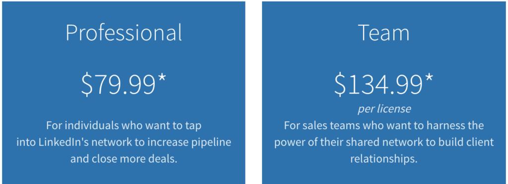 linkedin sales navigator review pricing