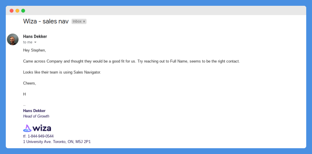 cold email template 1